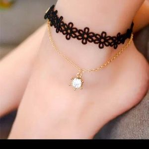 Luxury Laced Diamond Ankle bracelet $60